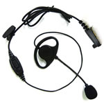 HYT Throat Vibrating Earpiece with In-Line PTT - Part #ELN02