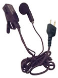 ICOM Earphone-Microphone with PTT Switch That Clips to Lapel - Part #HM-128
